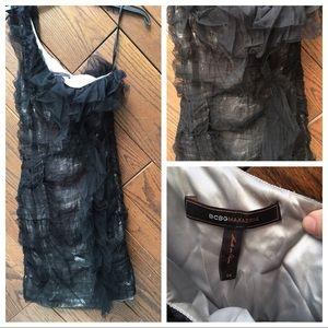BCBG one shoulder toile dress size 4